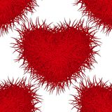 Monster red heart. Seamless pattern. Eps 10. Stock Images