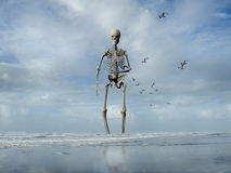 Monster rising from the ocean Royalty Free Stock Photography