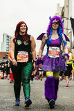 A monster of a run - Liverpool Marathon 2017 Stock Images