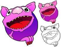 Monster Says Hi Stock Image