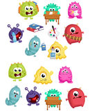 Monster School Vector Set. A vector of a monster in school stuff Royalty Free Stock Photography