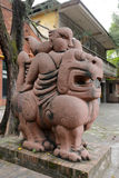 Monster sculpture in redtory creative garden, guangzhou, china Royalty Free Stock Photo