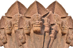 Monster sculptures. Three monster sand stone sculptures on white Stock Images