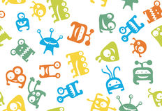 Monster seamless. Colorful, seamless monster pattern for kids Royalty Free Stock Photos