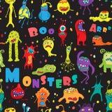 Monster seamless pattern. Royalty Free Stock Image