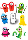 Monster Set. ! A collection of monster characters Royalty Free Stock Images
