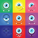 Monster set Stock Photography