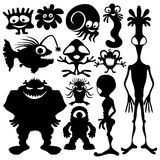 Monster set isolated on white. Royalty Free Stock Photography
