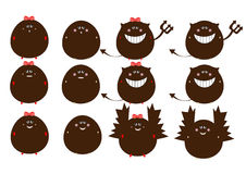 Monster set vector Royalty Free Stock Photos