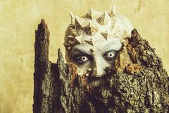 Monster with sharp thorns and warts royalty free stock images