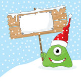 Monster with Sign royalty free stock photo