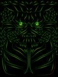 Monster sketch. Sketch of a hideous reptillian monster or demon vector illustration