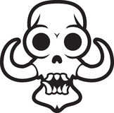 Monster skull with tusks Stock Images