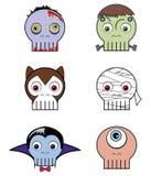 Monster  skulls Stock Photography