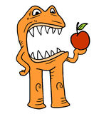 Monster with small apple Stock Image