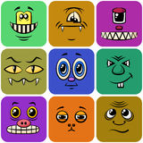 Monster-smiley, Satz Lizenzfreies Stockbild