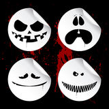 Monster smileys, halloween stickers. Royalty Free Stock Photography