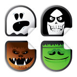 Monster smileys, halloween stickers. Stock Photos
