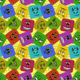 Monster Smileys, Seamless Royalty Free Stock Photo