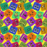 Monster Smileys, Seamless Royalty Free Stock Photography