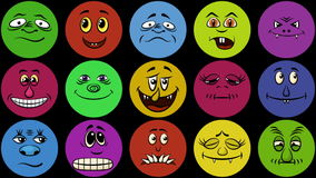 Monster Smileys, Seamless Loop stock footage