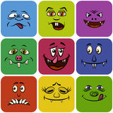 Monster Smileys, Set Stock Photography