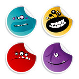 Monster smileys stickers. Royalty Free Stock Photos