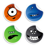 Monster smileys stickers. Stock Photo