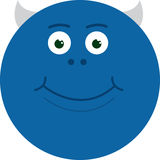 Monster Smiling Blue Stock Photos