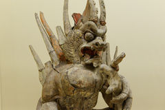 Monster statue of ancient  asia Stock Photos
