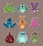 Monster stickers. Cartoon vector illustration Royalty Free Stock Photography