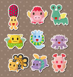 Monster stickers Royalty Free Stock Photography