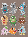 Monster stickers. Cute cartoon vector illusttration Stock Photo