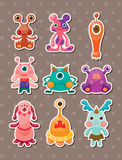 Monster stickers. Cute cartoon vector illusttration Stock Image