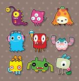 Monster stickers. Cute cartoon vector illusttration Royalty Free Stock Image