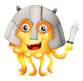 A monster with a sword and a helmet Stock Photography