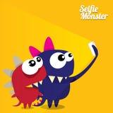 Monster Taking Selfie Photo on Smart Phone Stock Image