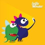 Monster Taking Selfie Photo on Smart Phone Stock Images