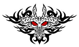 Monster tattoo. The head of the monster. Tattoo style. Vector illustration Stock Image