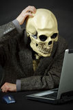 Monster thinks like him to enter internet Stock Image