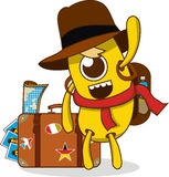 Monster travel Royalty Free Stock Images