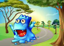 A monster travelling Stock Images