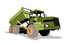 Monster truck 01. Big green truck in a workshop Royalty Free Stock Photography