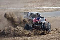 Monster Truck. Kicking up dirt Stock Image