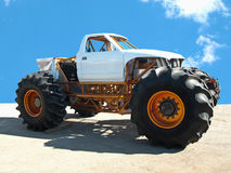 Monster truck. Isolated monster truck and blue sky Stock Images
