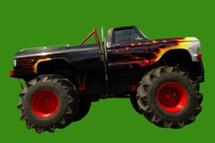 Monster Truck 4x4. On green background for easy selection royalty free stock photography
