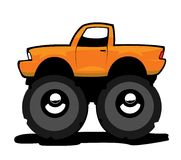 Monster truck. Monster car with big wheels Stock Photos