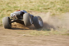Monster truck in action on the terrain Stock Image