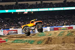 Monster truck at Angel Stadium. El Toro Loco in action during the Monster Jam competition Royalty Free Stock Image