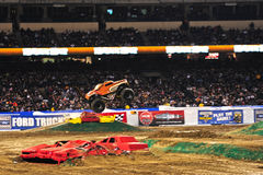Monster truck at Angel Stadium. Monster Mutt in action during the Monster Jam competition Stock Images